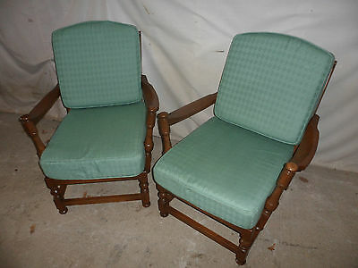A Quality Pair of Original Ercol Upholstered Conservatory/Easy Chairs