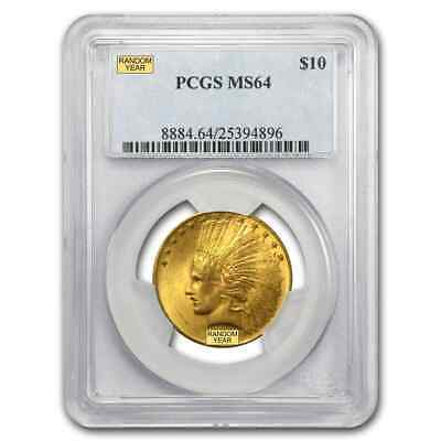 $10 Indian Gold Eagle Coin - Random Year - MS-64 PCGS - SKU #21693
