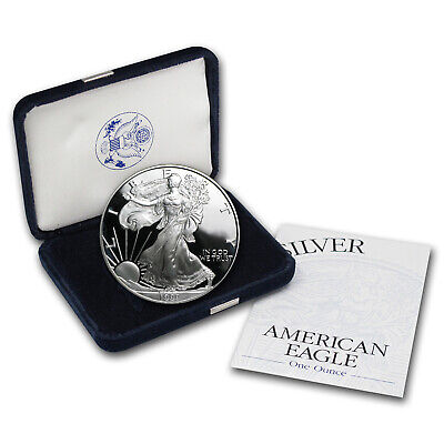 1999-P 1 oz Proof Silver American Eagle (w/Box & COA) - SKU #1061