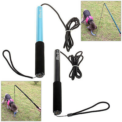 Blue Black Training Dog Elastic Stick Puppy Made Cute Rope Horse Clicker NEW S L