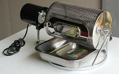 220V NEW Home Electric Stainless Steel Coffee Bean Roaster Roasting Machine