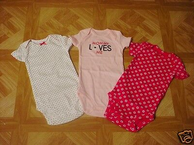 Baby & Toddler Clothing Uniqlo Circo Baby Girl Bodysuits 3-6 Months White Floral Polka Dot