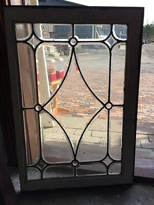 Sg 297 Antique All Beveled Glass With Or Jewels Window