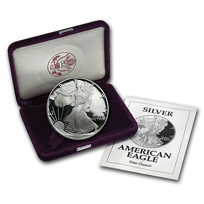 1992-S 1 oz Proof Silver American Eagle (w/Box & COA) - SKU #1075