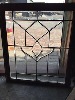 Sg 300 Antique All Beveled Glass Flower Window