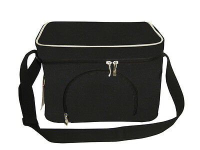 8L Small Cooler Bag | 9 can capacity | Insulated | Black & Platinum
