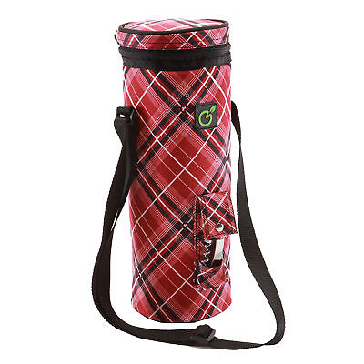Insulated Wine Cooler BYO | Magnum wine bottle gift bag | Corporate | Red Tartan