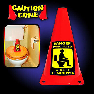 Caution Cone Danger Toxic Gases Novelty Secret Santa Christmas Joke Prank Gift