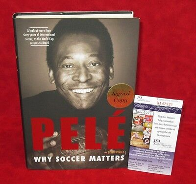 PELE Signed Autograph Book Why Soccer Matters 1st/1st Printing JSA