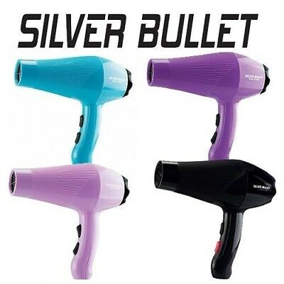 Silver Bullet City Chic Professional Hair Dryer Black Violet Lilac Aqua
