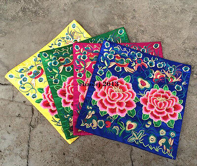 Exotic 3pcs Chinese Embroidered Silk Mouse Mat Cup&Telphone&Desk Coasters Mat
