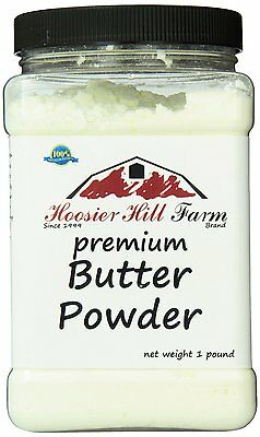 Hoosier Hill Farm Butter powder,1 lb 72% fat,GMO FREE,A Product of USA BRAND NEW