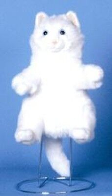 """12"""" Cat In White Puppet NP8074S New By Sunny"""