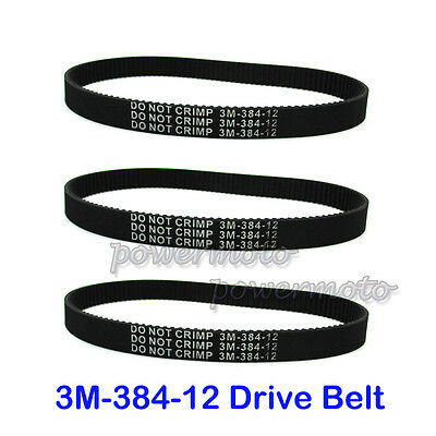 3x Transfer Drive Belt 3M-384-12 For Electric E Scooter Pulse Charger City Skull