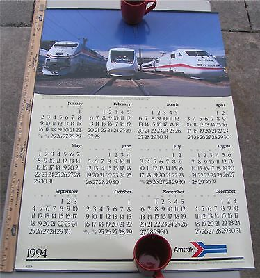 Amtrak Calendar 1994 Genesis Series Diesel, X2000 and ICE