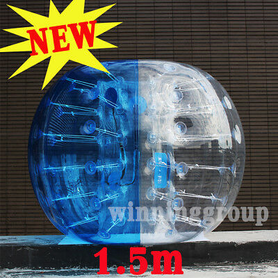 NEW 1.5M Inflatable Zorb Ball Human Football Bubble Soccer Ball PVC Bumper Blue