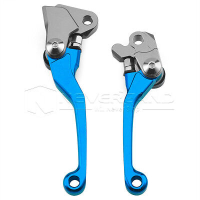 Blue Pair CNC Pivot Brake Clutch Levers for Yamaha WR250F WR450F 2001-2015