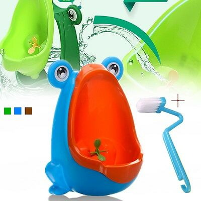 Cute Frog Shaped Baby Kid Potty Toilet Training Urinal Boys Pee Trainer Bathroom
