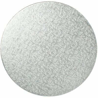 Silver 14 Inch Round Cake Board Wedding Bakers Baking Decorating Strong Base