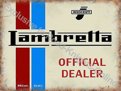 Vintage Garage Italian Classic Scooter Mods Old Plaque Small Metal/Tin Sign
