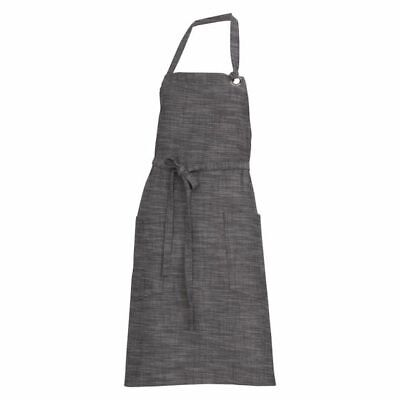 NEW Chef Works Corvallis Bib Apron in Black, Brown, Grey