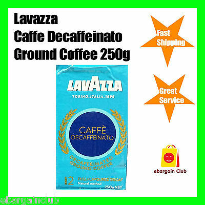 Lavazza Caffe Decaffeinato Decaf Ground Coffee 250g Decaffeinated