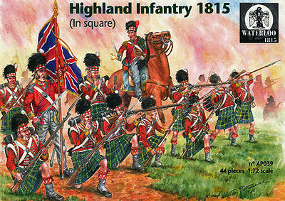 Ap039 Highland Infantry At Waterloo In Square