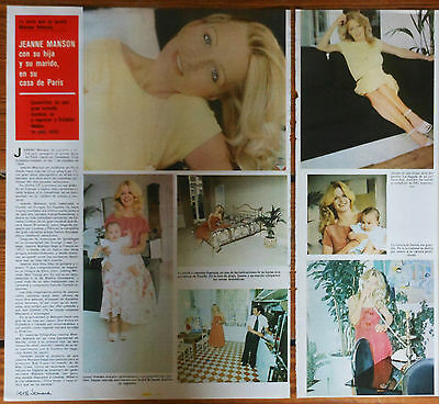 JEANE MANSON 2 page 1978 spanish article photos clippings playmate singer