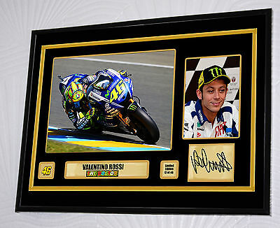 """Valentino Rossi 46 Limited Edition Large Framed Canvas Signed """"Great Gift"""""""