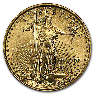 2003 1/10 oz Gold American Eagle BU - SKU #4704