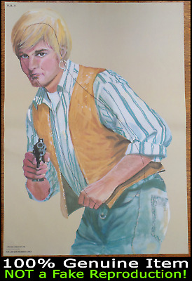 Vintage Police Law-Enforcement Shooting Target Poster 1995 Salvage Hunters TV