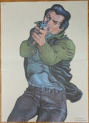 Vintage Police Weapons Gun Target 'Law Enforcement' Poster 1995 Salvage-Hunters