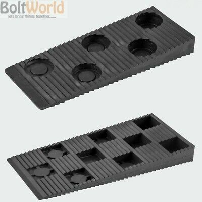 BLACK PLASTIC INTERLOCKING WEDGES FLOOR JOIST BATTEN WEDGES 10 x 80mm, 15 x 90mm
