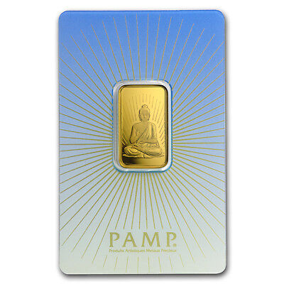 10 gram Gold Bar - PAMP Suisse Religious Series (Buddha) - SKU #94447