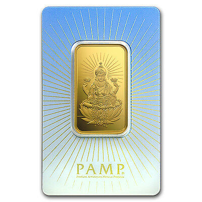 1 oz Gold Bar - PAMP Suisse Religious Series (Lakshmi) - SKU #94438