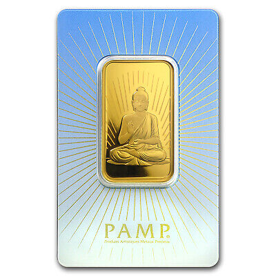 1 oz Gold Bar - PAMP Suisse Religious Series (Buddha) - SKU #94437