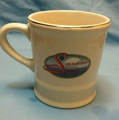 Mil-Art China company US Coast Guard systems coffee cup with gold edging