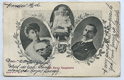 1906 Pt Pu Postcard Norwegian Royal Family Vignette Style E74