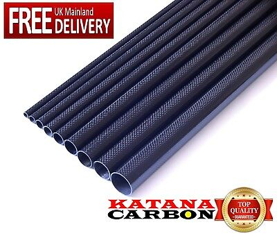 1 x 3k Carbon Fiber Tube OD 16mm x ID 14mm x 1000mm (1 m) (Roll Wrapped) Fibre