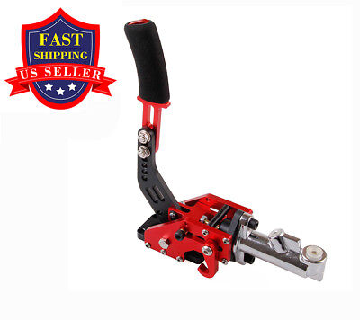 UNIVERSAL HYDRAULIC HORIZONTAL DRIFT E-BRAKE RACING PARKING HANDBRAKE LEVER Red
