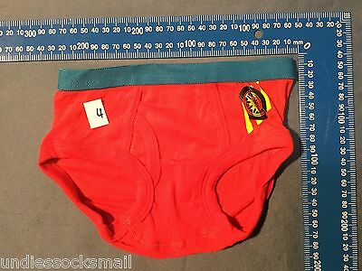 4 Pack Car Boys Kid With Fly Front Briefs Underwear Brief Sizes 4-8