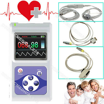 CE&FDA CMS60D OLED Pulse oximeter Fingertip Spo2 Monitor Pulse Rate with 3 Probe