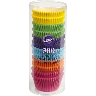 Wilton Rainbow Brights Standard Baking Cases 300 Pack Cupcake Muffin Cups Party