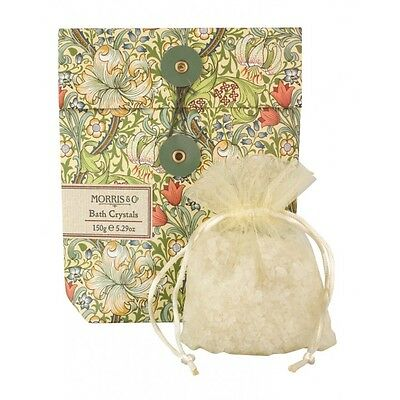 2 Packets of Morris & Co. Golden Lily Bath Salts Crystals - Heathcote & Ivory