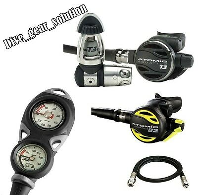 Atomic T3 Regulator B2 Octopus Mares Mission 2 with Free Jacket Hose Yoke set