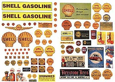 JL Innovative 488 HO 1940-50's Vintage Shell Gas Station Posters/Signs (92)