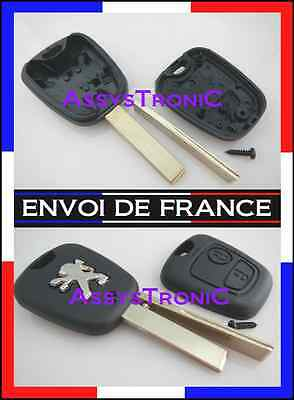 key shell REMOTE PEUGEOT 106 107 206 207 307 407 NEW, delivered in 48h