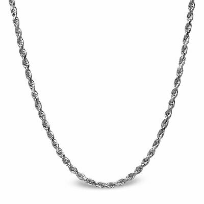 Diamond Cut Rope Sterling Silver Necklace - 20 in. - SKU #65414