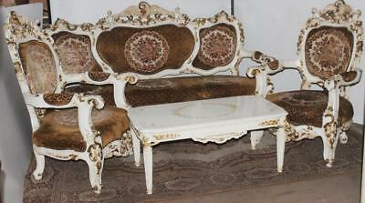 FRENCH LOUIS XV Style Carved Giltwood Antique 4 Piece Salon Suite ...