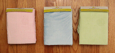 "Cuddle Time Changing Pad Cover ~ Green, Pink or Blue ~ Size 17"" x 35"" x 7"" ~"